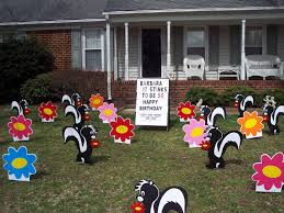 va lawn greetings va yard cards virginia birthday signs front