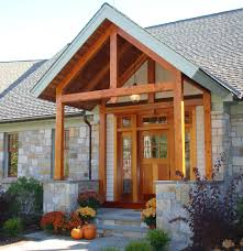 Modern Farmhouse Porch by Open Beam Porch Ceiling The Timber Frame Entry Porch Features