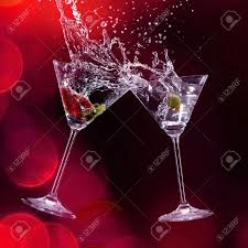 martini drinks over dark background stock photo picture and