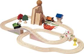 amazon com thomas and friends wooden railway boulder mountain