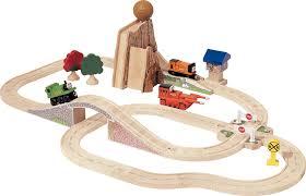 thomas train set wooden table amazon com thomas and friends wooden railway boulder mountain set