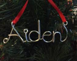 name ornament etsy