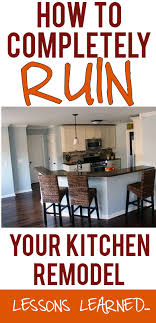 how to redo your kitchen cabinets yourself lessons learned from a disappointing kitchen remodel