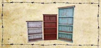 White Distressed Bookcase by Bookcases Ricky Rustics