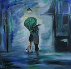 couple in love couples kissing raining rain umbrella couple