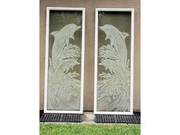 glass entry door dolphins etched glass on hurricane impact glass entry doors