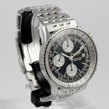 breitling steel bracelet images Breitling old navitimer stainless steel bracelet black dial white jpg