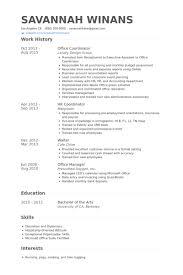 Business Development Coordinator Resume Samples Visualcv Resume by Office Coordinator Resume Examples