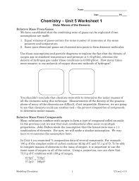 chemistry u2013 unit 5 worksheet 1
