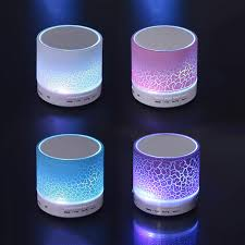 portable speaker with lights led lighting mini wireless bluetooth speaker a9 tf usb portable