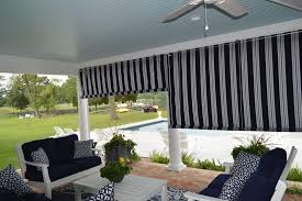 Sunbrella Patio Curtains Canvas Porch Roller Curtains Privacy Shade U0026 Protection