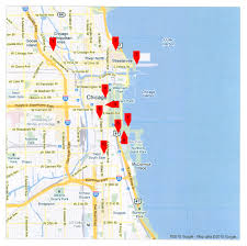 chicago map with attractions maps update 740830 illinois tourist attractions map chicago