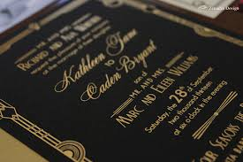 black and gold wedding invitations glamorous deco wedding invitation zenadia design