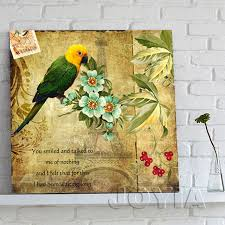 Prints For Home Decor Aliexpress Com Buy Canvas Painting Set Vintage Flower Birds Wall