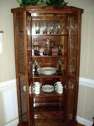 corner china cabinets dining room built in corner china cabinet partedly info