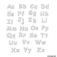 Coloriage lettre de l alphabet  JeColoriecom