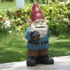 hi line gift ltd gnome holding lantern statue reviews wayfair