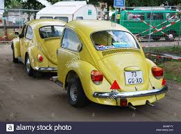 yellow volkswagen beetle royalty free classic vw beetle with identical trailer stock photo royalty free