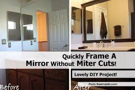 quickly frame a mirror without miter cuts