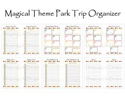 trip planner templates vacation planning printables google search wdw planning binder