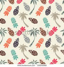 Palm Trees Fruit - seamless pattern coconut palm trees fruits stock vector 320048966