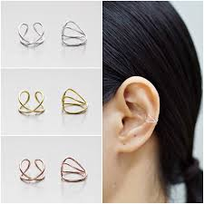 925 sterling silver earrings ear cuff earring gold plated