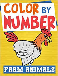 color number farm animals farm animal coloring activity book