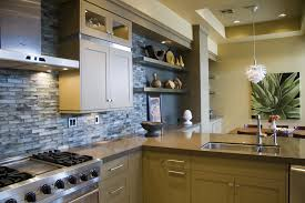 Pictures Of Backsplashes In Kitchens Endearing Kitchen Recycled Glass Backsplash Contemporary With
