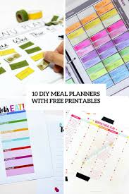 10 easy diy meal planners with free printables u2013 home info