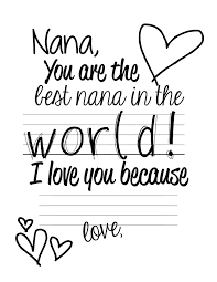 free printable easy mother s day present nana page 001
