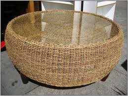 Wicker Side Table Coffee Tables Seagrass Coffee Table Modern Outdoor Coffee Table