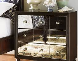 Mirrored Dressers And Nightstands Furniture Nightstand Mirrored Night Stand Within Breathtaking