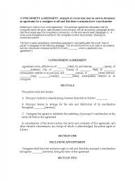 contract consignment contract template