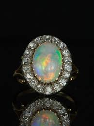 crystal opal rings images Reserved to b h edwardian 3 25 ct natural jelly crystal opal jpg