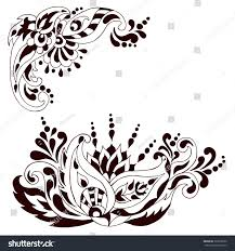 henna tattoo doodle vector elements mehndi stock vector 323876030
