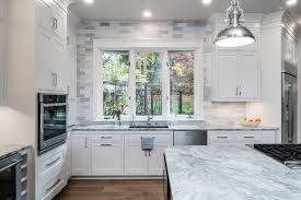 kitchen backsplash with white cabinets and white countertops 15 stunning kitchen backsplashes diy network made