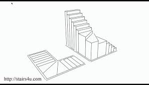floor plan stairs staircase section drawing how to build interior stairs floor plan