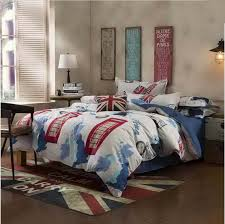 Marshalls Duvet Covers Navy Blue And White With Red Print Men U0027s Teenager U0027s Bedding Set