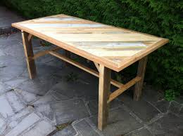 Fabriquer Un Poulailler En Palette by Fabrication D U0027une Table Solide Avec Du Bois De Recuperation