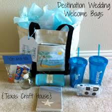 beachy wedding favors destination wedding welcome bags diy craft house