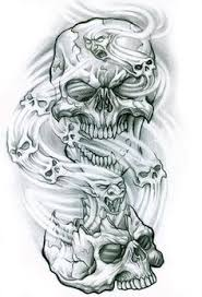 smoke skull by mattoosies on deviantart needles ink