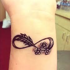 mer enn 25 bra ideer om infinity wrist tattoos på pinterest