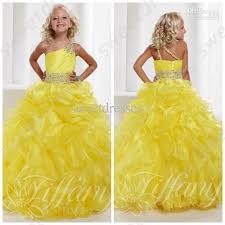 pageant dresses for pageant gowns 2015 hot sale bright yellow one shoulder