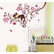 monkey sleeping the branch wall decal art decals vinyl monkey sleeping the lemon tree wall decal