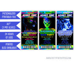 glow in dark invitations printable glow party invitation glow in the dark invitation