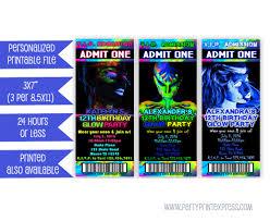 printable glow party invitation glow in the dark invitation