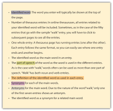 Meaning Of Antonym And Synonym Using The Dictionary And Thesaurus Effectively