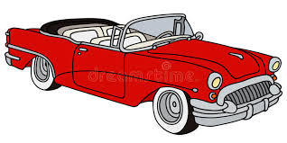 cartoon convertible car classic american convertible stock illustration illustration of