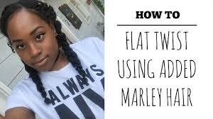 twist using marley hair how to 2 flat twists using marley hair youtube