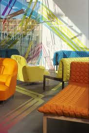 Yellow Leather Sofa by Linen Pattern Multicolor Carpet Floor Featuring Orange Leather